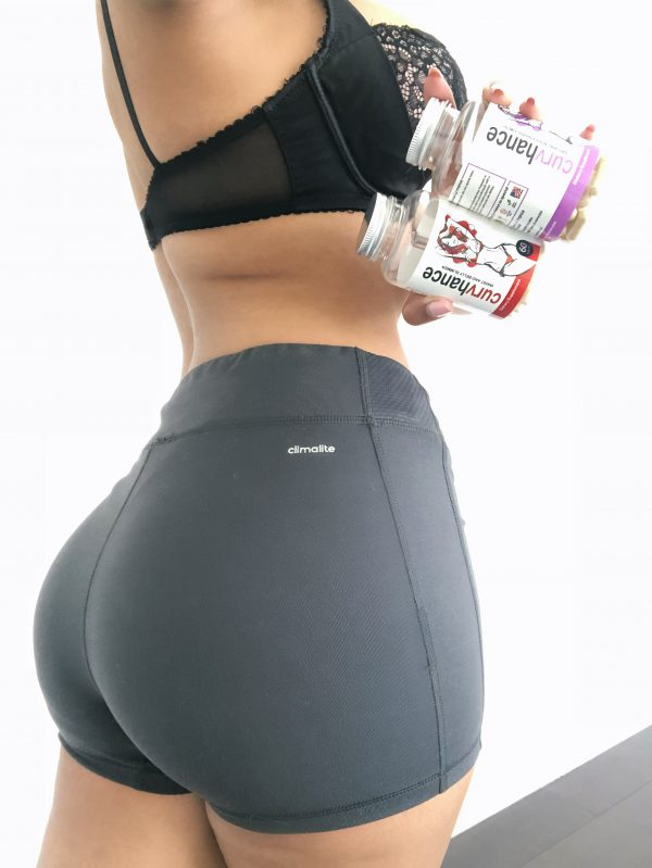 "Fernanda L.: ""Combining the butt and breast enlargement pills with the slimming pills has helped keep my stomach flat and ass fat!"""